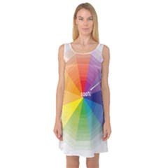 Colour Value Diagram Circle Round Sleeveless Satin Nightdress by Mariart
