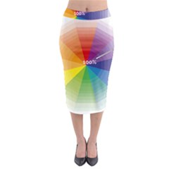 Colour Value Diagram Circle Round Midi Pencil Skirt by Mariart