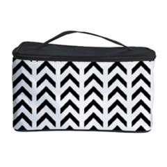 Chevron Triangle Black Cosmetic Storage Case by Mariart