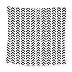 Chevron Triangle Black Square Tapestry (large) by Mariart