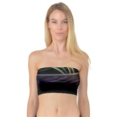 Colorful Abstract Fantasy Modern Green Gold Purple Light Black Line Bandeau Top by Mariart