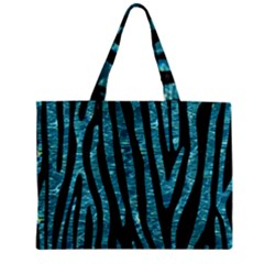 Skin4 Black Marble & Blue Green Water (r) Zipper Mini Tote Bag by trendistuff