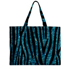 Skin4 Black Marble & Blue Green Water Zipper Mini Tote Bag by trendistuff