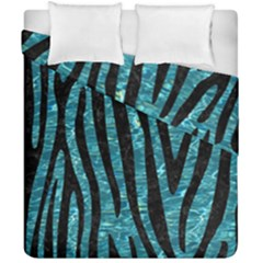 Skin4 Black Marble & Blue Green Water Duvet Cover Double Side (california King Size) by trendistuff