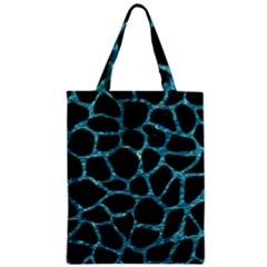 Skin1 Black Marble & Blue Green Water (r) Zipper Classic Tote Bag by trendistuff