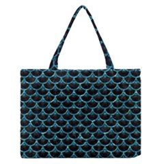 Scales3 Black Marble & Blue Green Water Medium Zipper Tote Bag by trendistuff