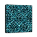 DAMASK1 BLACK MARBLE & BLUE-GREEN WATER (R) Mini Canvas 6  x 6  (Stretched) View1