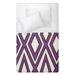 Diamond Key Stripe Purple Chevron Duvet Cover (single Size) by Mariart