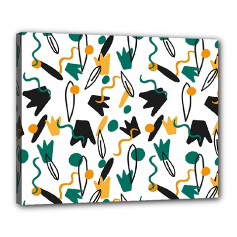 Flowers Duck Legs Line Canvas 20  X 16  by Mariart