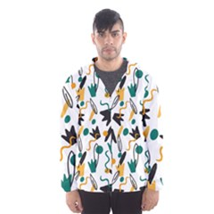 Flowers Duck Legs Line Hooded Wind Breaker (men)