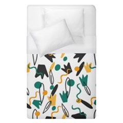 Flowers Duck Legs Line Duvet Cover (single Size) by Mariart
