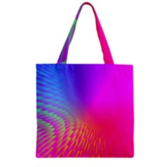 Light Aurora Pink Purple Gold Zipper Grocery Tote Bag