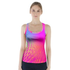 Light Aurora Pink Purple Gold Racer Back Sports Top by Mariart