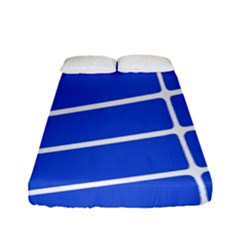 Line Stripes Blue Fitted Sheet (full/ Double Size) by Mariart