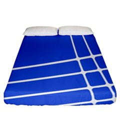 Line Stripes Blue Fitted Sheet (california King Size) by Mariart