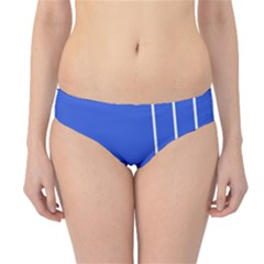 Line Stripes Blue Hipster Bikini Bottoms by Mariart