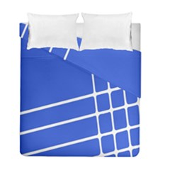 Line Stripes Blue Duvet Cover Double Side (full/ Double Size) by Mariart