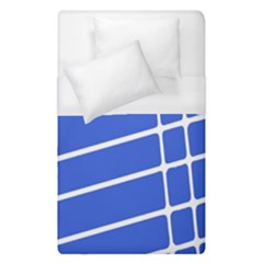 Line Stripes Blue Duvet Cover (single Size) by Mariart