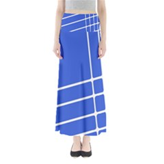 Line Stripes Blue Maxi Skirts by Mariart