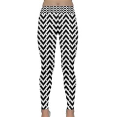 Funky Chevron Stripes Triangles Classic Yoga Leggings by Mariart