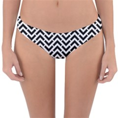 Funky Chevron Stripes Triangles Reversible Hipster Bikini Bottoms by Mariart