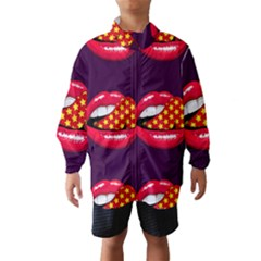 Lip Vector Hipster Example Image Star Sexy Purple Red Wind Breaker (kids)