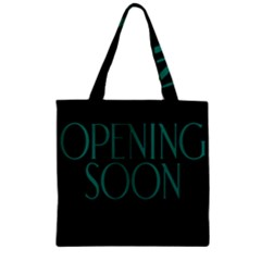 Opening Soon Sign Zipper Grocery Tote Bag by Mariart