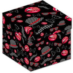Lip Hat Vector Hipster Example Image Star Sexy Black Red Storage Stool 12   by Mariart