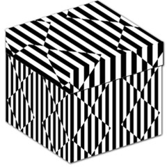 Optical Illusion Inverted Diamonds Storage Stool 12   by Mariart