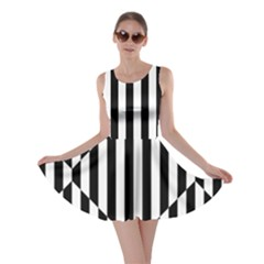 Optical Illusion Inverted Diamonds Skater Dress by Mariart