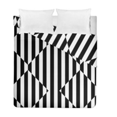 Optical Illusion Inverted Diamonds Duvet Cover Double Side (full/ Double Size) by Mariart
