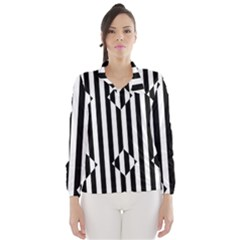 Optical Illusion Inverted Diamonds Wind Breaker (women) by Mariart