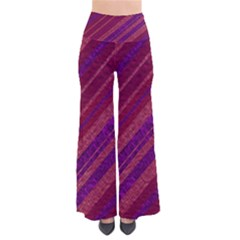 Maroon Striped Texture Pants by Mariart