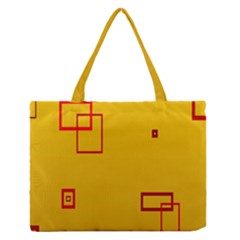 Overlap Squares Orange Plaid Red Medium Zipper Tote Bag by Mariart
