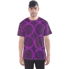 Original Circle Purple Brown Men s Sports Mesh Tee