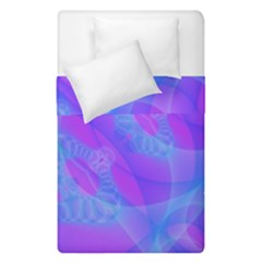 Original Purple Blue Fractal Composed Overlapping Loops Misty Translucent Duvet Cover Double Side (single Size) by Mariart