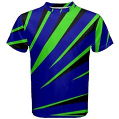 Rays Light Chevron Blue Green Black Men s Cotton Tee