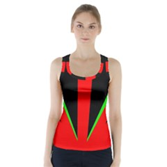 Rays Light Chevron Green Red Black Racer Back Sports Top