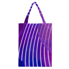 Rays Light Chevron Blue Purple Line Light Classic Tote Bag by Mariart