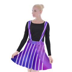 Rays Light Chevron Blue Purple Line Light Suspender Skater Skirt