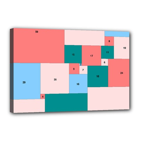 Simple Perfect Squares Squares Order Canvas 18  X 12  by Mariart