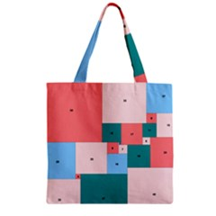 Simple Perfect Squares Squares Order Zipper Grocery Tote Bag by Mariart