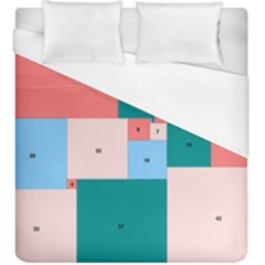 Simple Perfect Squares Squares Order Duvet Cover (king Size)