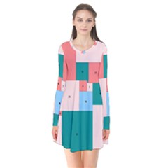 Simple Perfect Squares Squares Order Flare Dress