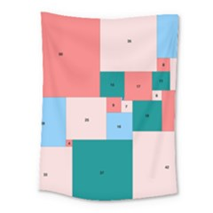 Simple Perfect Squares Squares Order Medium Tapestry by Mariart