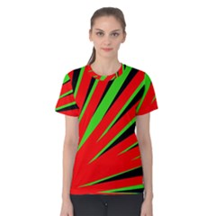 Rays Light Chevron Red Green Black Women s Cotton Tee by Mariart