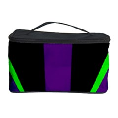 Rays Light Chevron Purple Green Black Line Cosmetic Storage Case by Mariart