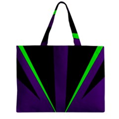Rays Light Chevron Purple Green Black Line Zipper Mini Tote Bag by Mariart