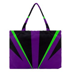 Rays Light Chevron Purple Green Black Line Medium Tote Bag