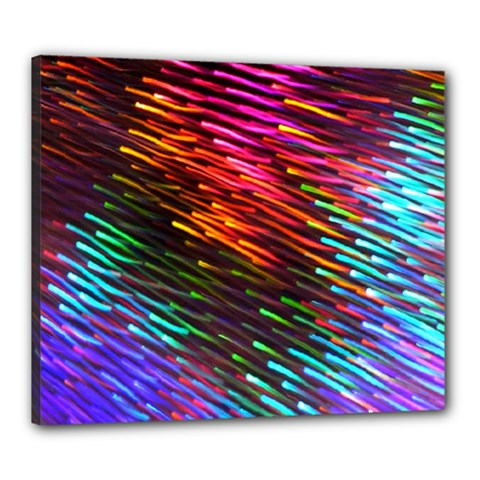 Rainbow Shake Light Line Canvas 24  X 20